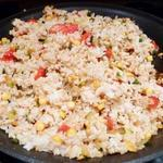 Simple Charred Vegetable Rice