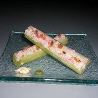 Craby Celery Sticks with Bacon Bits