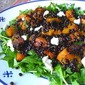 Halloween Salad: Butternut Squash, Lentils & Goat Cheese