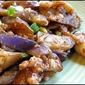 Szechuan eggplant with pork and hot bean sauce