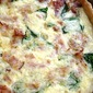 Bacon, Ham, and Spinach Quiche