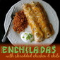 Shredded Chicken and Chile Enchiladas