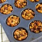 "Recipe for 100% Whole Wheat Stuffing ""Muffins"" with Sausage and Parmesan"