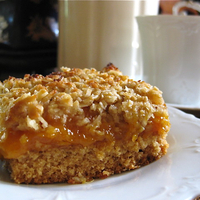Image of Gluten Free Rustic Apricot Slice Recipe, Cook Eat Share