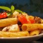 Tortiglioni with Aubergines and Olives