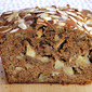 Almond Apple Bread with Rum Raisin Cream Cheese