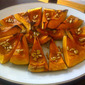 Roasted Kabocha Squash with Pine Nuts and Pomegranate Molasses