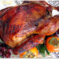 Savory Brined Turkey with Brown Rice Syrup Glaze
