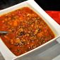 Lentil Soup with Chorizo; we're insulated!