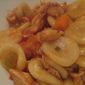 Homemade Orecchiette with rabbit ragu from Puglia (Italy)
