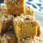 Streuseled Caramel Pumpkin Blondies