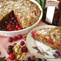 Image of Chocolate Cranberry Cointreau Cake Recipe, Cook Eat Share