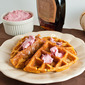 Toasty Pumpkin Waffles with Maple Cranberry Butter