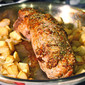 Roasted Pork Tenderloin with Apples and Onions