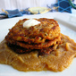 Five Spice Cheese Latkes & Almond Apple Butter