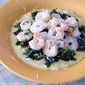Lemon Garlic Shrimp Scampi with Kale and Polenta