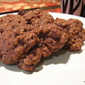 Mexican Chocolate Oatmeal Cookies with Dried Cherries and Walnuts