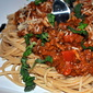 Healthy Spaghetti and Meat Sauce
