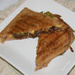 Flank Steak, Roasted Pasilla Pepper and Sharp Cheddar Cheese Panini