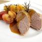 Roasted Honey-Dijon Pork Tenderloins with Lady Apples and Rosemary