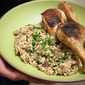 Dirty Rice/Rice Dressing and Pollo al Mattone (Tuscan Brick Chicken)