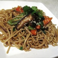 Image of Aubergine Chow Mein Stir Fry Recipe, Cook Eat Share
