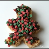 Holiday Peanut Butter and Chocolate Rice Krispies Treats
