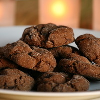 Dark Chocolate Espresso Gingerbread cookies