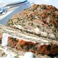 Feta-Stuffed Turkey Meatloaf with Tzatziki Sauce (Low Carb)