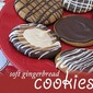 Soft Gingerbread Cookies with Chocolate Drizzles