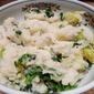 Smashed Potato Salad with Escarole
