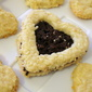 Chocolate Coconut Sandwich Hearts