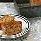 Recipe for easy cinnamon-apple coffee cake with streusel topping