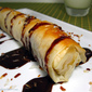 Nutella & Filo Wrapped Banana with Toasted Coconut