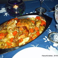 Image of Sweet N Sour Finger Licking Delicious Chicken Roast Recipe, Cook Eat Share