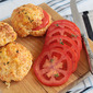 Savory scones with cheese and sweetcorn