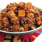 Red Quinoa with Roasted Butternut Squash, Dried Cranberries, and Pumpkin Seeds