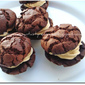Eggless Chocolate Cookies Sandwich