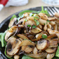 Mushroom, Caramelized Onion & Cannellini Bean Salad Recipe
