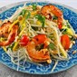 Thai Green Papaya Salad with Grilled Shrimp Recipe