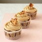 Coconut Coffee Cupcakes with Peanut Butter Frosting