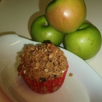 Image of Apple Pulp, Raisin And Cherry Crumble Muffins Recipe, Cook Eat Share