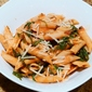 Simple Pasta with Spinach, Mushrooms and Tomatoes