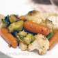 Roasted Cauliflower and Brussels Sprouts with Glazed Carrots