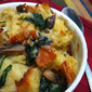 Cheesy Mushroom & Spinach Bread Pudding & A Panera Review