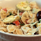 Bowtie Pasta with Artichoke Hearts, Olives and Tomatoes
