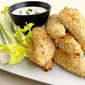 Baked Panko-Crusted Chicken Tenders with Ranch Dressing