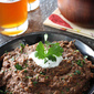 Spicy Black Bean Dip with Roasted Red & Chipotle Pepper Recipe