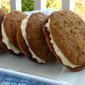 Carrot Cake Sandwich Cookies with Honey Cardamom Cream Cheese