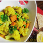 Sweet Potato and Cauliflower Curry